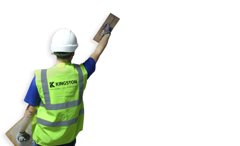 drylining contractor man banner