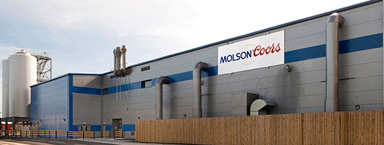 Molson Coors Brewery metal stud partitions